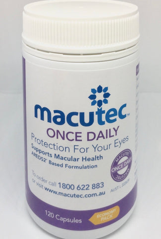 MACUTEC Protection For Your Eyes. Economy Pack - 120 Capsules