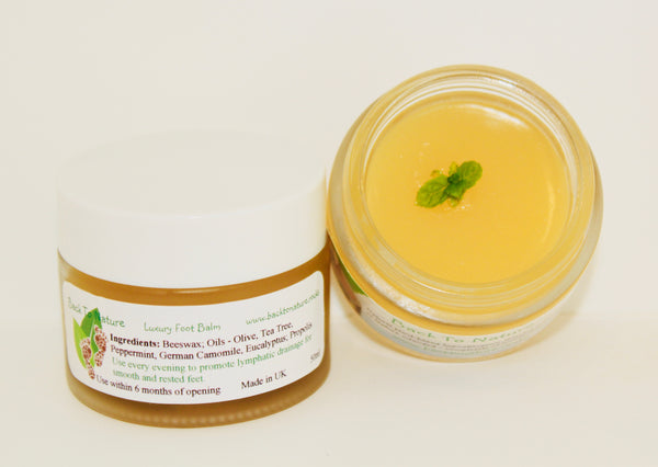 Luxury Peppermint Foot Balm - Anti-fungal, Healing and Soothing 50ml