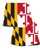 Womens Maryland Flag Running Skirt