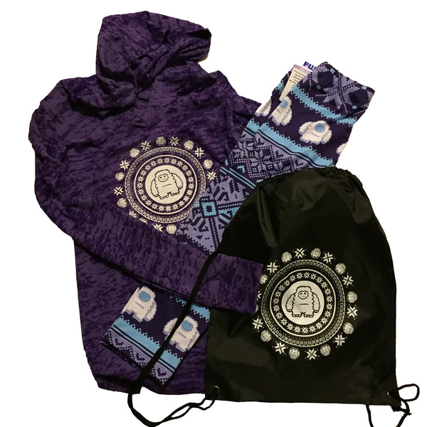 Gift Set ARS Yeti Holiday Capri/hoody and cinch sac