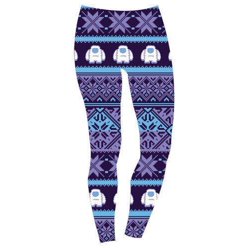 ARS Yeti Holiday Athletic Running Yoga Capri Tights