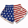 american flag running split shorts