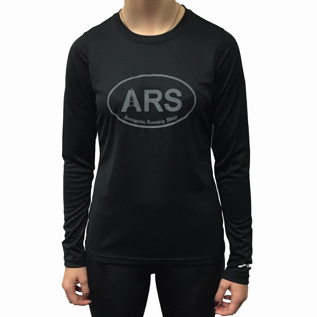 Women 39 S Brooks Ars L S Technical T Shirt Black With