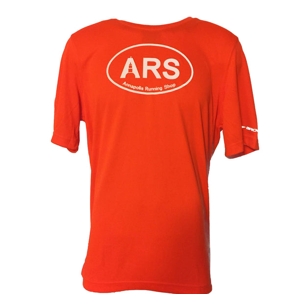 Men's Brooks ARS Technical T-Shirt - Hi Vis Orange - Annapolis Running Shop