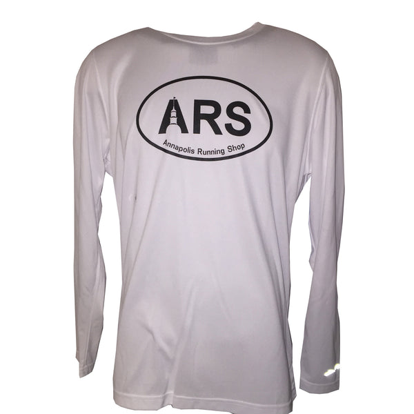 Men's Brooks ARS Technical L/S T-Shirt - White - Annapolis Running Shop