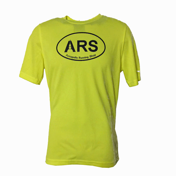 Men's Brooks ARS Technical T-Shirt - Hi Vis Yellow - Annapolis Running Shop