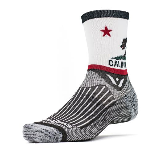 California Flag Athletic Running Socks- Swiftwick