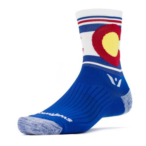 Colorado Flag Athletic Running Socks- Swiftwick - Annapolis Running Shop