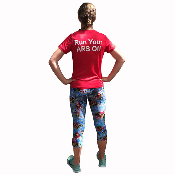 Maryland Blue Crab Athletic Running Capri Tights - Annapolis Running Shop