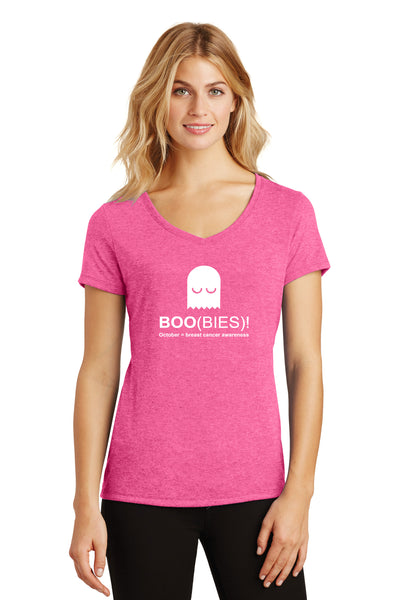 Women's Short Sleeve Performance Boo-Bies October tee Donation Tee