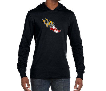 "Featherweight Hoodie ""Maryland Pegasus"" (Unisex Cut) - Annapolis Running Shop"
