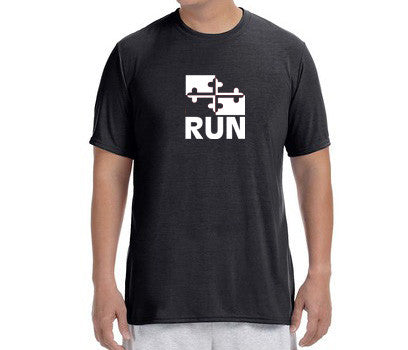 "Men's Short Sleeve Performance ""Run Maryland"" T-Shirt - Annapolis Running Shop"