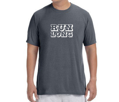 "Men's Short Sleeve Performance ""Run Long"" T-Shirt - Annapolis Running Shop"