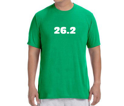 "Men's Short Sleeve Performance ""26.2"" T-Shirt - Annapolis Running Shop"