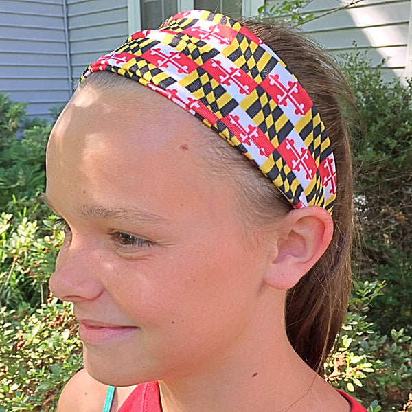 Maryland Flag Athletic Running Headband - Annapolis Running Shop