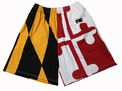 Mens Maryland Flag Long Shorts
