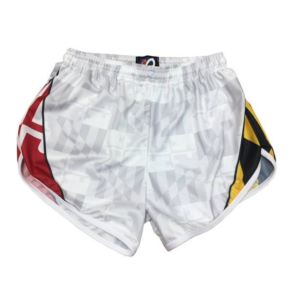 Maryland tonal white Athletic Running Shorts - Annapolis Running Shop