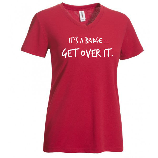 "ARS ""It's A Bridge...Get Over It"" Technical T-Shirt-Women's - Annapolis Running Shop"