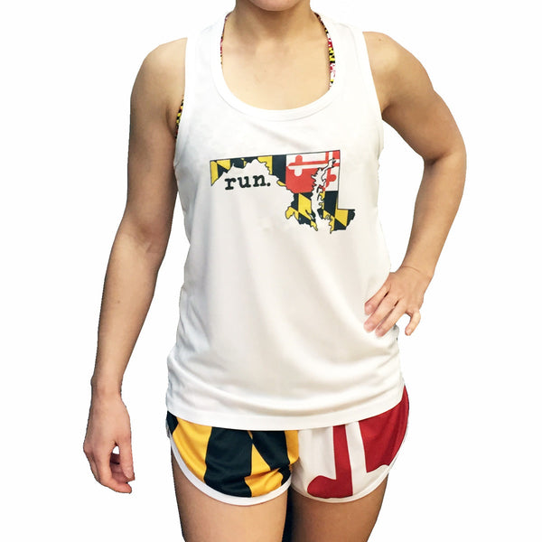 Maryland RUN Women's Technical Singlet - Annapolis Running Shop
