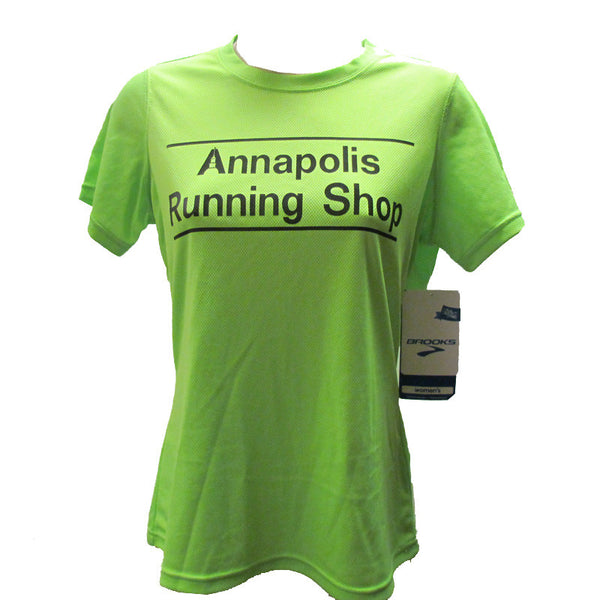 Women's Brooks ARS Technical T-Shirt - Hi Vis Green