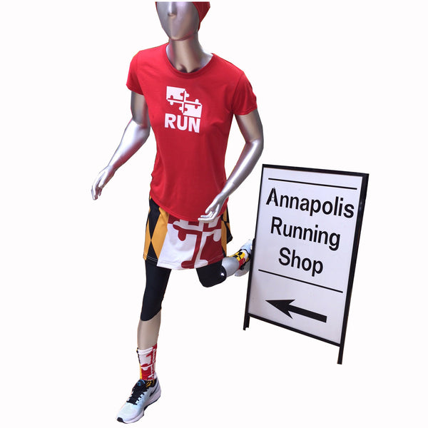 Womens Maryland Flag Running Skirt - Annapolis Running Shop