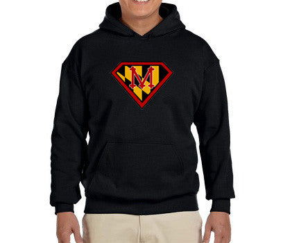 "Heavy Blend Hoodie ""Maryland Super Runner"" (Unisex Cut) - Annapolis Running Shop"