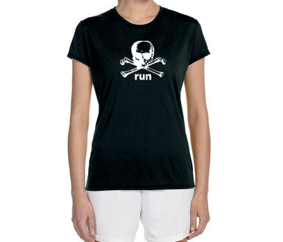 "Women's Short Sleeve Performance ""Danger Run"" Technical T-Shirt - Annapolis Running Shop"