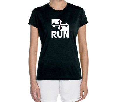 "Women's Short Sleeve Performance ""Run Maryland"" Technical T-Shirt"