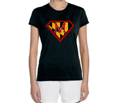"Women's Short Sleeve Performance ""Maryland Super Runner"" Technical T-Shirt - Annapolis Running Shop"