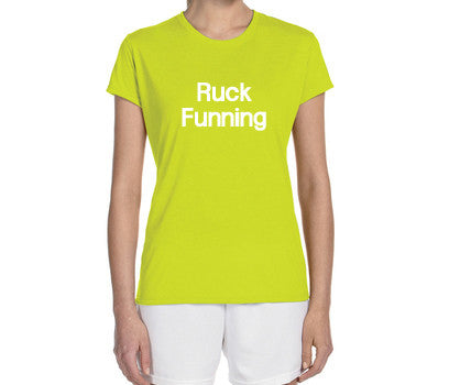 "Women's Short Sleeve Performance ""Ruck Funning"" Technical T-Shirt - Annapolis Running Shop"