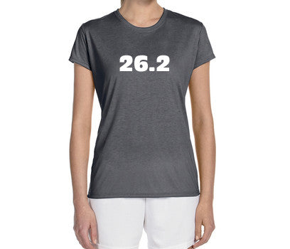"Women's Short Sleeve Performance ""26.2"" Technical T-Shirt - Annapolis Running Shop"