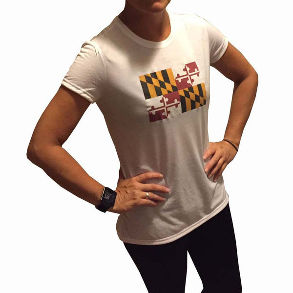 Maryland Flag Performance Running Tee