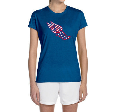 "Women's Short Sleeve Performance ""USA Pegasus"" Technical T-Shirt - Annapolis Running Shop"