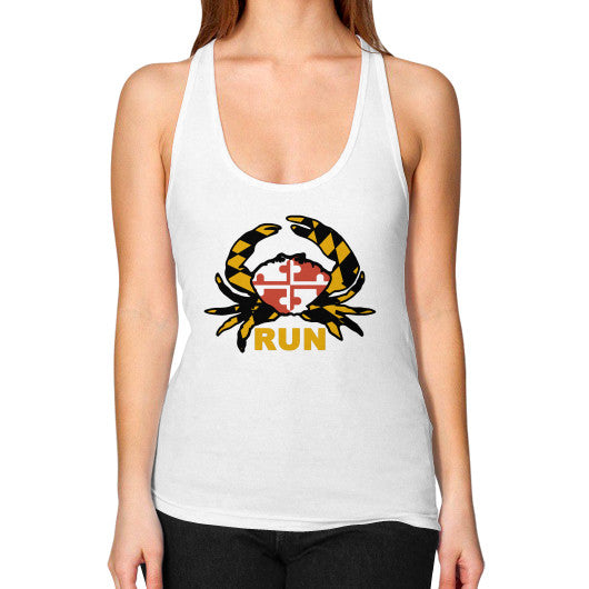 Women's Racerback Tank White Annapolis Running Shop