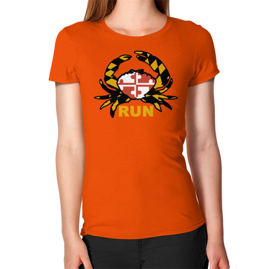 Women's T-Shirt Orange Annapolis Running Shop