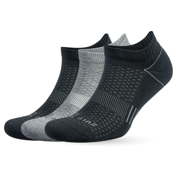 ZULU NO SHOW 3-PACK-grey black - Annapolis Running Shop
