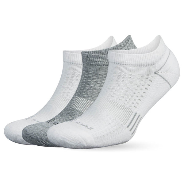 ZULU NO SHOW 3-PACK-white multi - Annapolis Running Shop
