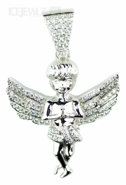 Angel Micro pendant (Silver with chain) - IceJewlz - 2