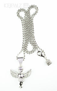 Angel Micro pendant (Silver with chain) - IceJewlz - 1
