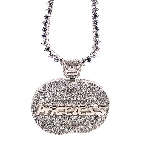 PRICELESS Pendant with a chain