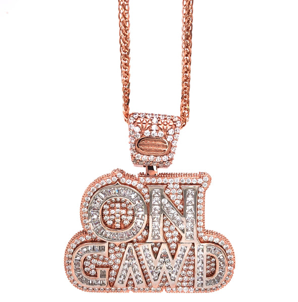ON GAWD Pendant with a chain