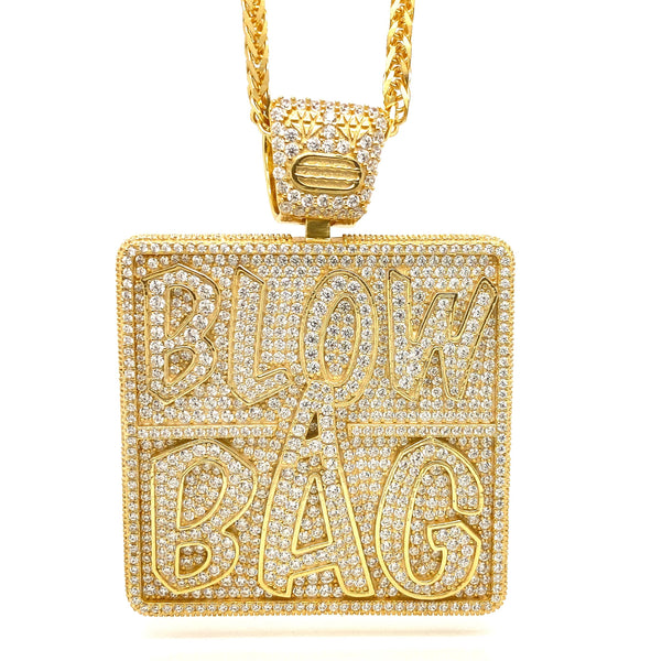Blow A Bag Pendant with a chain