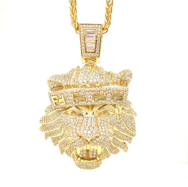 Fendi Lion Pendant with a chain