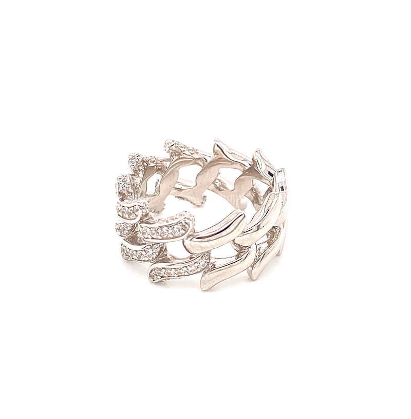 Spiked Cuban Link Ring