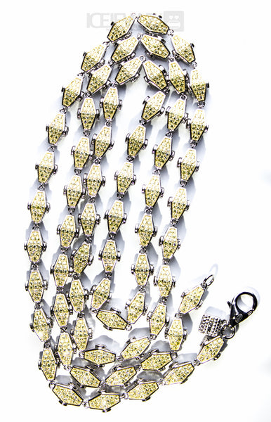 Adz double sided plain Yellow N White - IceJewlz - 3