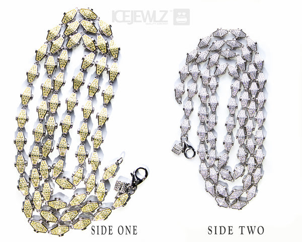 Adz double sided plain Yellow N White - IceJewlz - 2