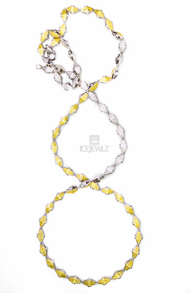 Adz double sided plain Yellow N White - IceJewlz - 5