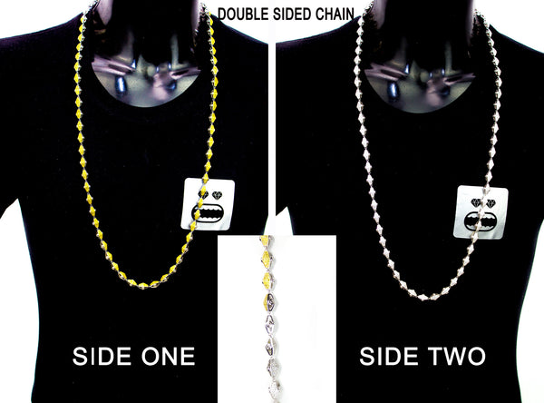 Adz double sided plain Yellow N White - IceJewlz - 6