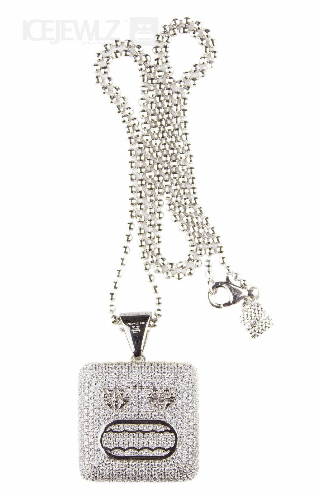 Mr Icejewlz micro pendant (Silver) with chain - IceJewlz - 1