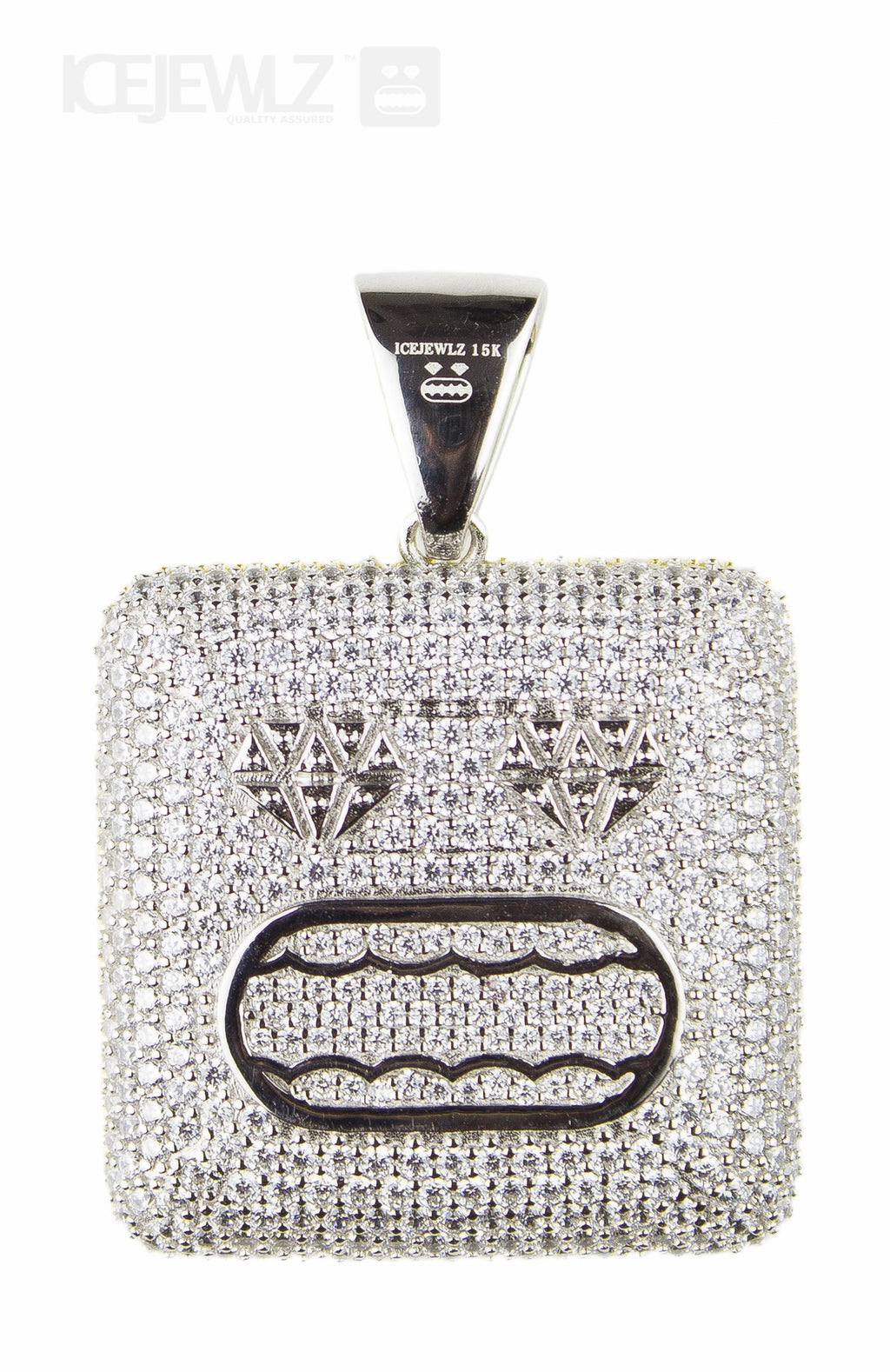 Mr Icejewlz micro pendant (Silver) with chain - IceJewlz - 2
